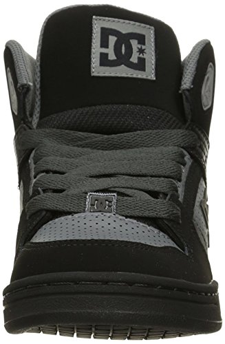 DC Rebound Sneaker (Little Kid/Big Kid), Grey/Black/Grey, 12.5 M US Little Kid
