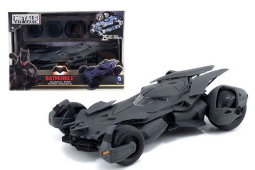 Bat Model Black (New 1:24 Batman V Superman Movie - Matte Black Batmobile Model Kit Metals Diecast Model Car By Jada Toys)