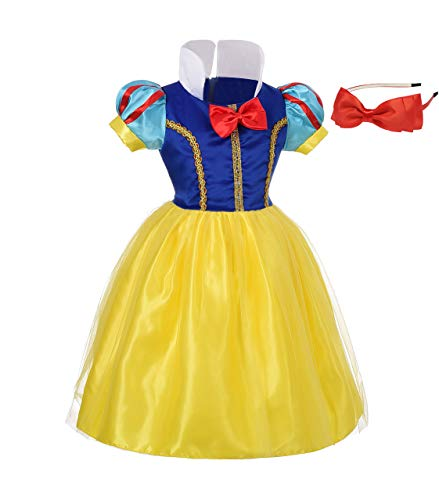 Lito Angels Baby-Girls' Princess Snow White Costume Fancy Dresses up Halloween Outfit with Headband Size 12-18 Months B -