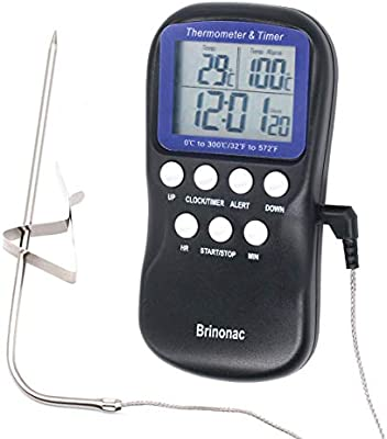 LCD Digital Probe Electronic Thermometer for BBQ//Cooking//Food//Meat//Kitchen