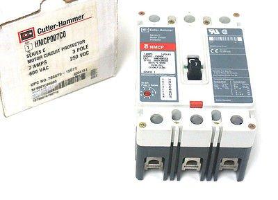 NEW CUTLER HAMMER HMCP007C0 CIRCUIT BREAKER SER. C, 7A, 600VAC, 3 POLE