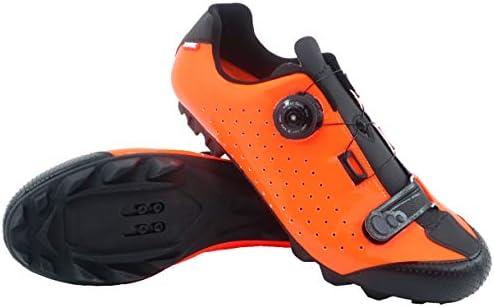 LUCK Zapatillas de Ciclismo MTB ÍCARO con Suela de Carbono y Sistema rotativo de precisión acompañada de un Velcro. (48 EU, Naranja): Amazon.es: Deportes y aire libre