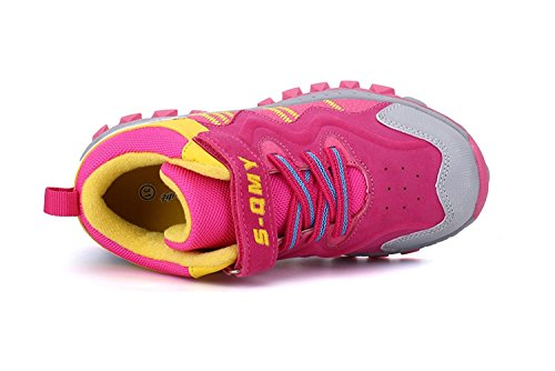 KVbaby Sportschuhe Hallenschuhe Kinder Sneaker Jungen Mädchen Kinderschuhe Turnschuhe Jungen Trekking Wanderschuhe Mit Warm Gefüttert Schneestiefel Gr.30-37 Pink