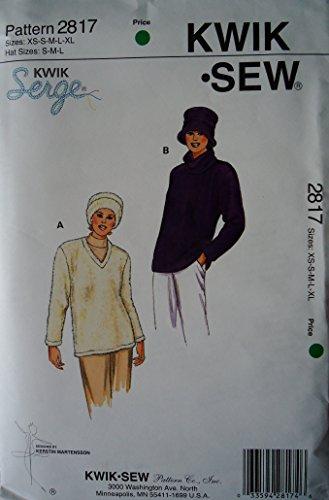 Kwik Sew 2817 Pattern Misses' Pull-overs & Hat Pattern Sizes Xs - Xl