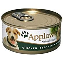 Applaws Adult Dog Food Tin with Chicken, Beef Liver & Vegetables m (156g)