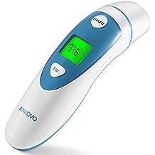 ANKOVO termómetro médico de infrarrojos para frente y oídos con indicador de fiebre para bebés, niños y adultos. Aprobado por la FDA y CE