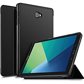 9bb60a8ab13 IVSO Samsung Galaxy Tab A SM-P580 Funda Case, Slim Smart Cover Funda  Protectora de Cuero PU para Samsung Galaxy Tab A 10.1 SM-P580 Tablet (Negro)