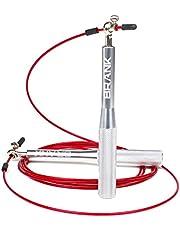 BRANK Sports® Regelbare crossfit springtouw | 3 kabels inbegrepen | Lichtgewicht aluminium snelheidskoord met premium kwaliteit kogellagers | Bonus inbegrepen en 365 dagen garantie