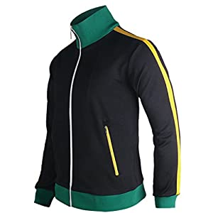 myglory77mall Slimfit Running Jogging Tracksuit Warm up Jacket Gym Training Wear