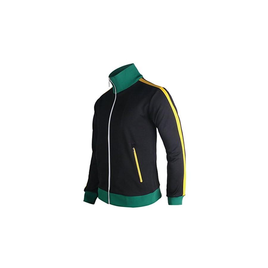 myglory77mall Slimfit Running Jogging Tracksuit Warm up Jacket Gym Training Wear