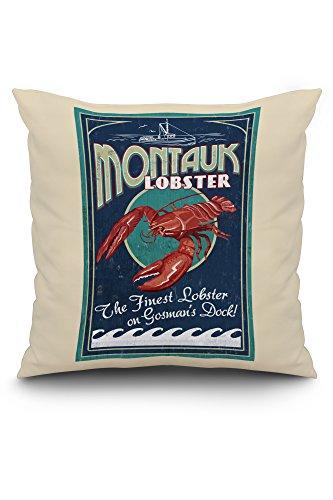 Lantern Press Montauk, New York - Lobster Vintage Sign (2...