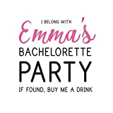 Tattify Custom Bachelorette Party Temporary Tattoos - Buy Me A Drink - Set of 50 Custom Tattoos - Temporary Fake Removable Wedding Party Event Tattoos - Long Lasting Waterproof