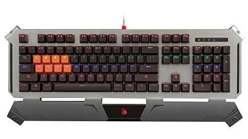 B740 Light Strike LK Optical Gaming Keyboard Smooth/Linear ZERO LAG – Ultra Durable & Weighted with Water Resistant Unibody and Built-In Wristrest - Neon LED Backlit – [LK Black Switches ()
