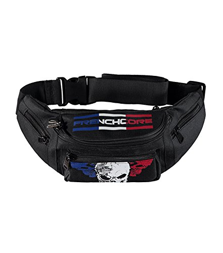 "All Stars  Hip Bag / Gürteltasche Frenchcore ""COMING FOR YOU"", Borsa Messenger  Unisex adulto nero nero"