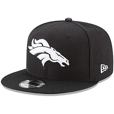 New Era Denver Broncos Hat NFL Black White 9FIFTY Snapback Adjustable Cap Adult One Size