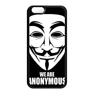 Anonymous Black Silicon Case Snap-On Protective Back Cover Rubber Case for Apple? iPhone 6 by Gangtoyz + FREE Crystal Clear Screen Protector