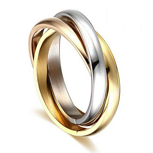 Tomikko Classic 3 Rounds Ring Sets for Women Stainless Steel Wedding Engagement Female | Model RNG - 24905 | 10