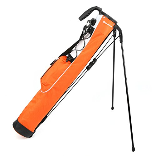 Orlimar Pitch & Putt Golf Lightweight Stand Carry Bag, Orange