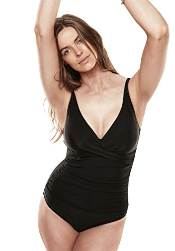 b136382791d Shore Club Women s Plus Size Twist Front Maillot By Shore Club Black