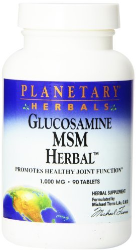 Planetary Herbals Glucosamine Msm Herbal Tablets, 90 Count by Planetary Herbals
