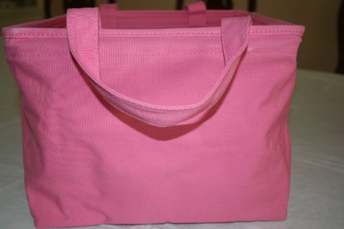 Pottery Barn Kids Pink Square canvas storage bin tote