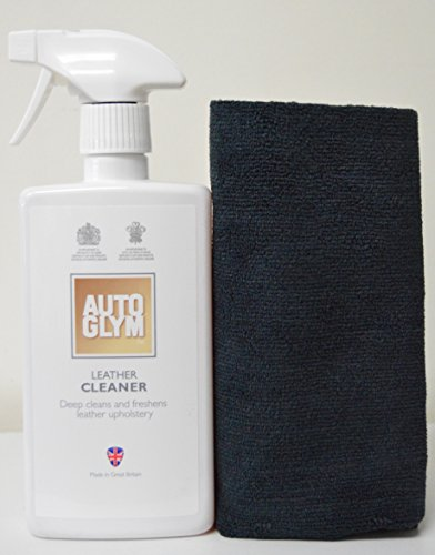 AutoGlym Leather Cleaner 500ml with Free Edgeless Microfiber