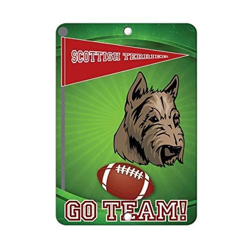Tarfy Football Fan Scottish Terrier Dog R/étro Vintage Signe De Tin D/écoration Bar Caf/é Caf/é Apr/ès-midi Th/é Barbecue Boutique