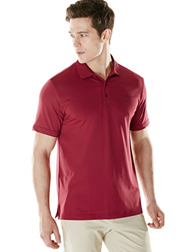 一人で浸食フルーティー(テスラ) TESLA メンズ HyperDri 半袖 ポロシャツ [UVカット?吸汗速乾] 無地 ゴルフウェア MTK