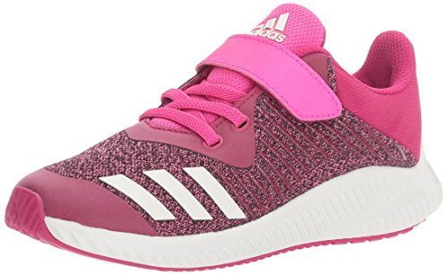adidas Performance Girls' Fortarun EL K Running Shoe, Bold Pink/White/Shock Pink, 2.5 Medium US Little Kid by adidas