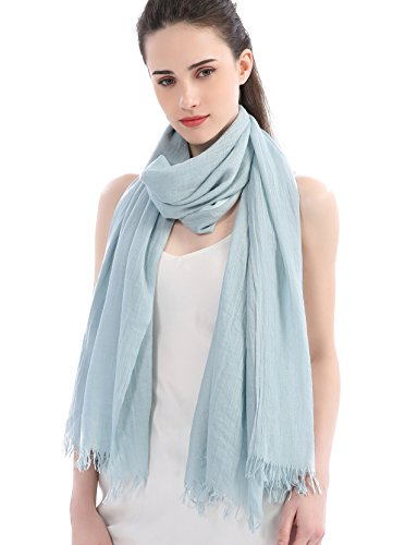 Premium Women Extreme Soft Scarf Wrap Shawl For Any Season, Super Size, Rich Color Choice ( Babyblue - Babyblue Color