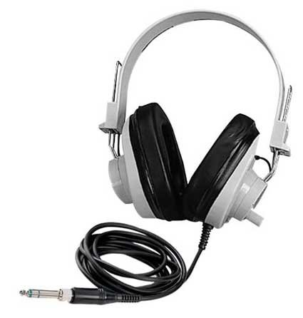2924AVPV Deluxe Monaural Headphones with Volume Control