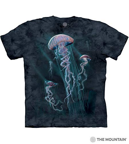 The Mountain Jellyfish Adult T-Shirt, Blue, Large