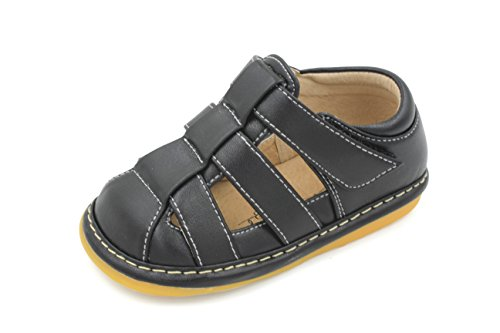 Little Maes Boutique Navy Blue Boys Squeaky Sandals