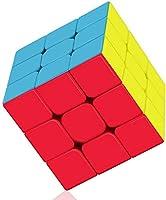 Roxenda Magic Cube 3 x 3, Zonder Stickers, Gladde Blokjespuzzel, IQ-spel voor Kinderen