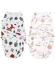 luminiu Baby sovsäck skötfilt set 2-pack skötfilt baby puckhandduk baby för nyfödda från 100 bomull-babysovsäck mjuk bomull – baby 0-6 månader