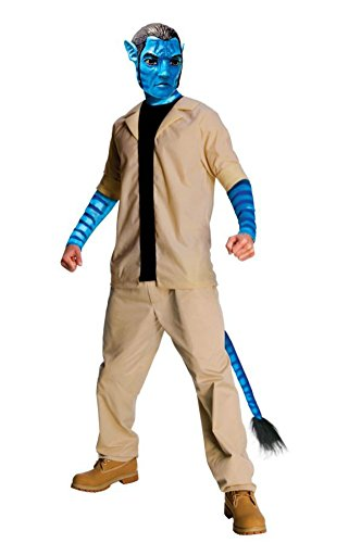 Rubies Mens Avatar Movie Characters Jake Sulley Fancy Dress Costume, XL (44-46)]()
