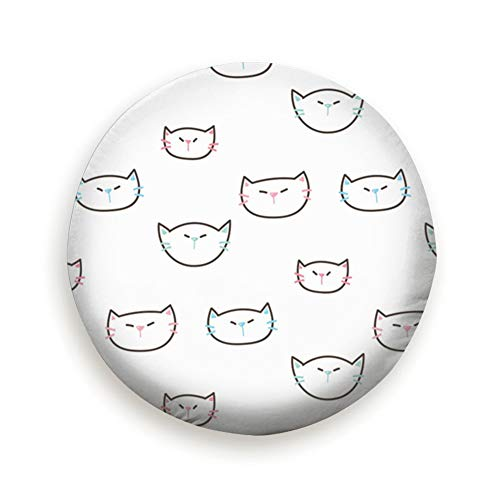 - AndrewTop Cartoon Cat Face Design Animals Wildlife Animal Spare Tire Cover, Waterproof Dust-Proof Thicken Wheel Protectors Covers Fit 14-17 Inch 17 Inch