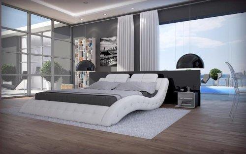 Luxus Betten luxus bett polsterbett mood weiß 160 x 200 cm amazon de küche