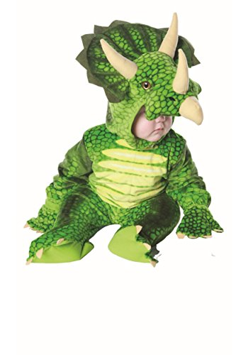 Underwraps Kid's Toddler Triceratops Dinosaur Costume, Large Childrens Costume, Green, Large -