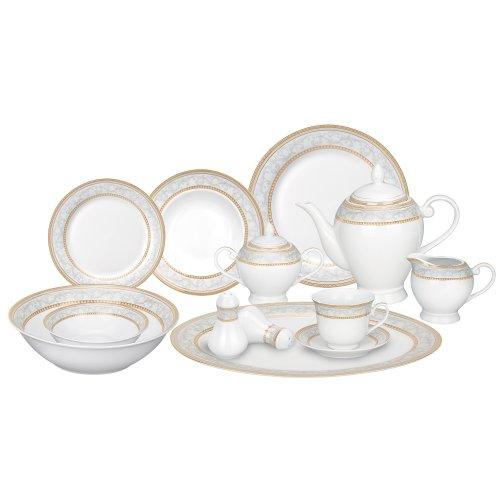 Lorren Home Trends 57-Piece Porcelain Dinnerware Set Giada Service for 8  sc 1 st  Amazon.com & Formal Dinnerware Set: Amazon.com