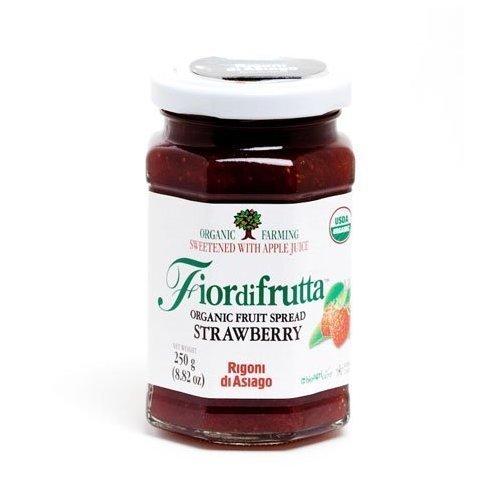Rigoni Di Asiago Fiordifrutta Organic Fruit Spread, Strawberry, 8.82 Ounce, (Pack of 6) by Rigoni di Asiago [Foods]