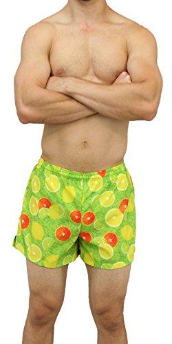"""Boa Men's PRINTED 3.75"""" V-NOTCH RUNNING SHORT (Vitamin C,..."""