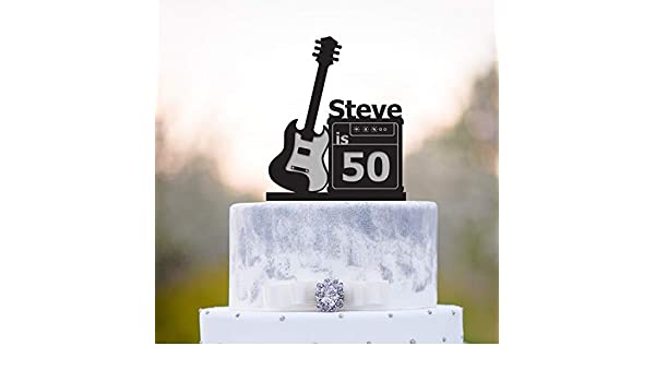 Decoración para tarta de cumpleaños de músico con diseño de ...