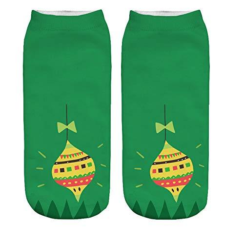 Clearance Christmas Ankle Socks Women's 3D Cartoon Funny Crazy Cute Amazing Novelty Print Duseedik