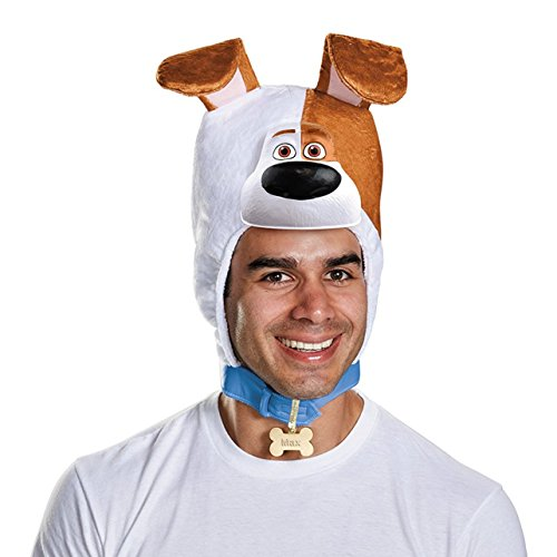 Max The Dog Costume For Adults (Disguise Secret Life Of Pets Adult Max Headpiece Standard)