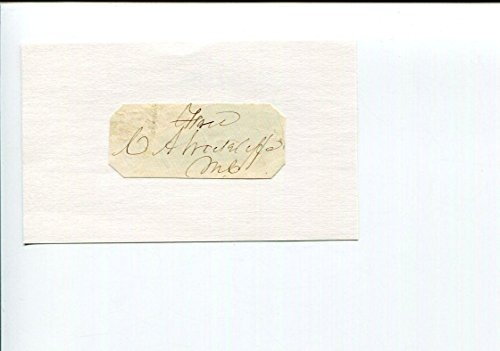 Postmaster General Signed (Charles A. Wickliffe US Postmaster General Kentucky Governor Signed Autograph)