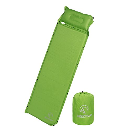 Redcamp Self Inflating Sleeping Pad With Attached Pillow