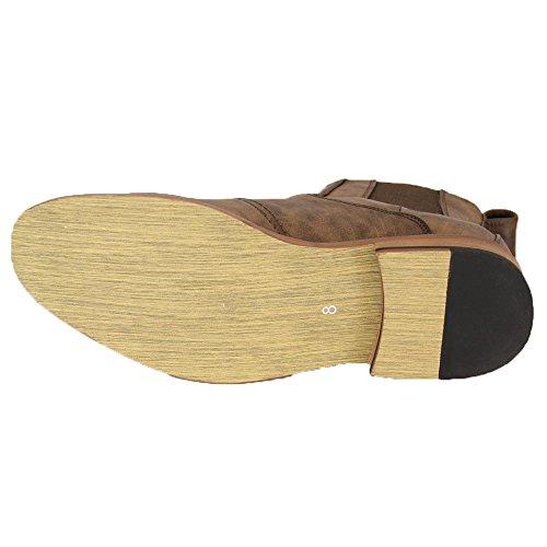 Herren Cavani Stiefel Chelsea Dealer Schuhe Knöchelhoch Lederoptik Designer Neu Braun - SIMONCAV