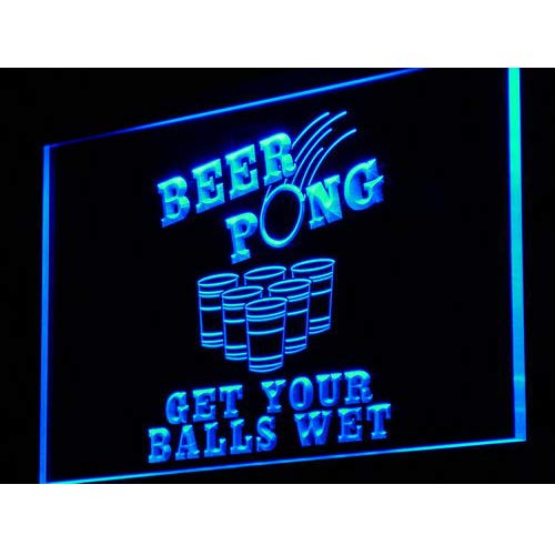 - ADVPRO i939-b Beer Pong Get Your Balls Wet Neon Light Sign