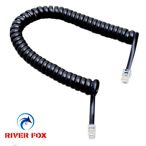 6.5FT Black Cable Wire Telephone Handset Phone Extension Cord Curly Coil LineNI
